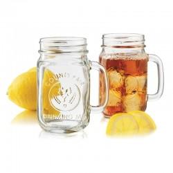 Libbey Drinking Jar 488ml Handled Embossed County Fair (12)