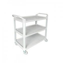 Cater Rax Utility Trolley 3 Shelf Plastic Grey 845 x 430 x 950mm