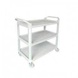 Cater Rax Utility Trolley 3 Shelf Plastic Grey 1020 x 500 x 960mm