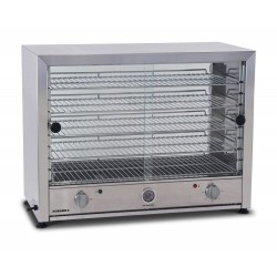 Roband Pie Warmer 100 pies w/ Glass Door Both Sides & Internal Light