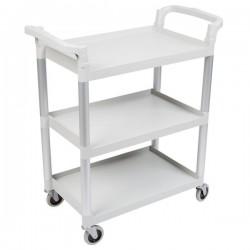 Cambro Service Cart 965 x 410 x 835mm / 3 Shelf / 136kg Speckled Grey