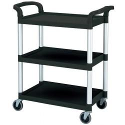 Cambro Service Cart 965 x 410 x 835mm / 3 Shelf / 136kg Black