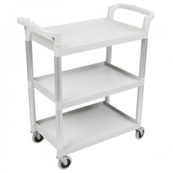Cambro Large Utility Cart 1015 x 540 x 95mm / 3 Shelf / 180kg Speckled Grey
