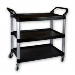 Sunnex Utility Trolley 3 Shelf Plastic Black 1060 x 480 x 1000mm