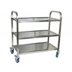 Trolley 710 x 405 x 825mm 3 Shelf Extra Heavy Duty Stainless Steel