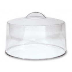 Cake Cover 300mm Clear with Moulded Handle
