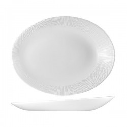 Oval Plate 346 x 263mm Churchill Bamboo Orb White (12)