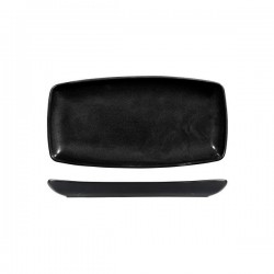 Oblong Plate 295 x 150mm Black X-Squared Churchill (12)