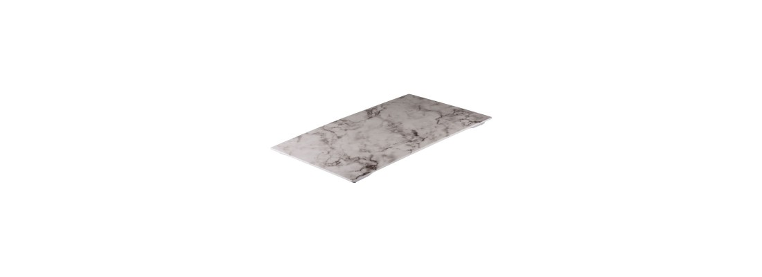 White Marble | Ryner Melamine - Central Hospitality Supplies | Padstow