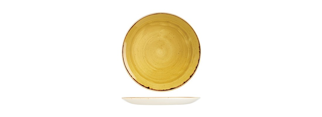Plates | Mustard Seed Yellow | Stonecast | Churchill - Central Hospitality Supplies | Padstow