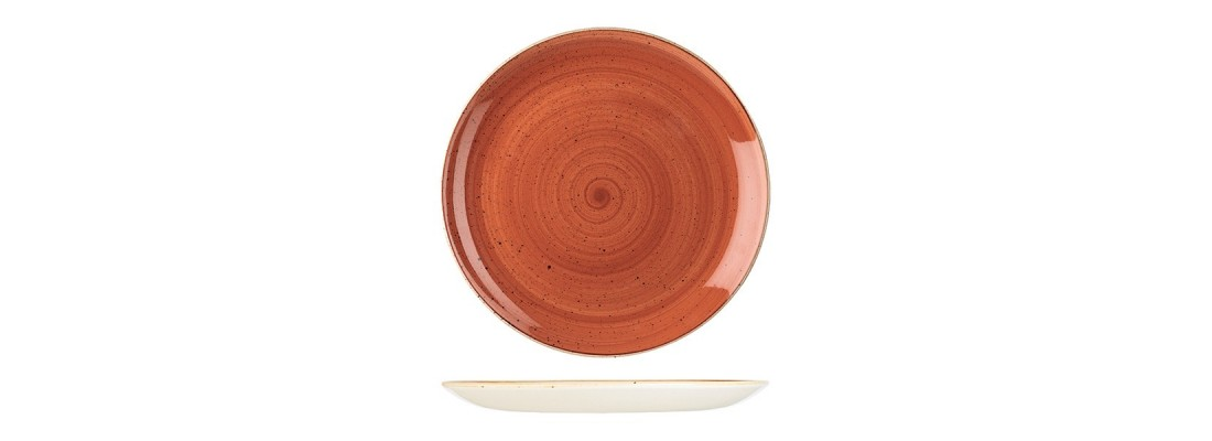 Plates | Spiced orange | Stonecast | Churchill